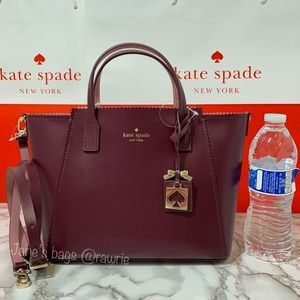 LOWEST Kate Spade Small Loryn Leather Satchel Plum